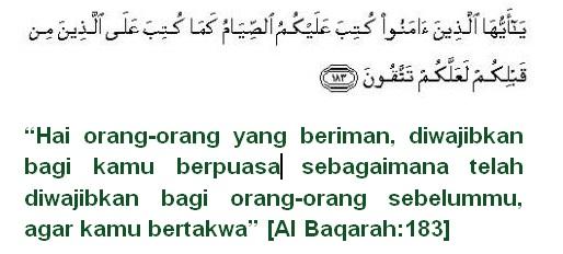 Pedoman Puasa Ramadhan menurut Qur'an dan Hadits