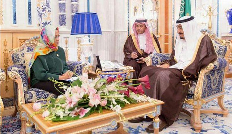 Menlu RI bertemu Raja Salman